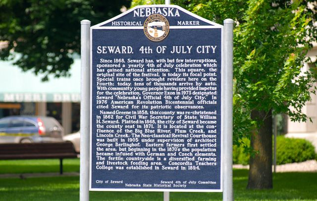 Seward 4th of July City Historical Marker