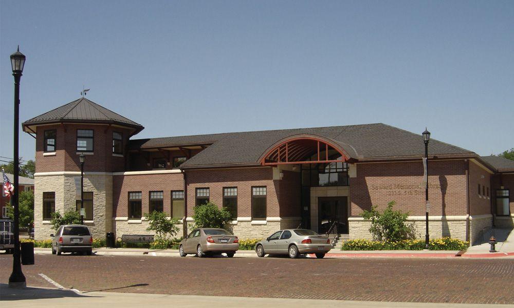 Seward Memorial Library building east side exterior