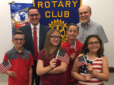 2017 winners and Rotary club representatives
